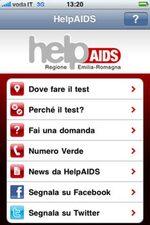 App HelpAids, menù