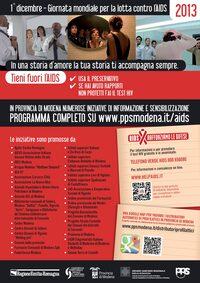 Locandina AIDS Modena 2013